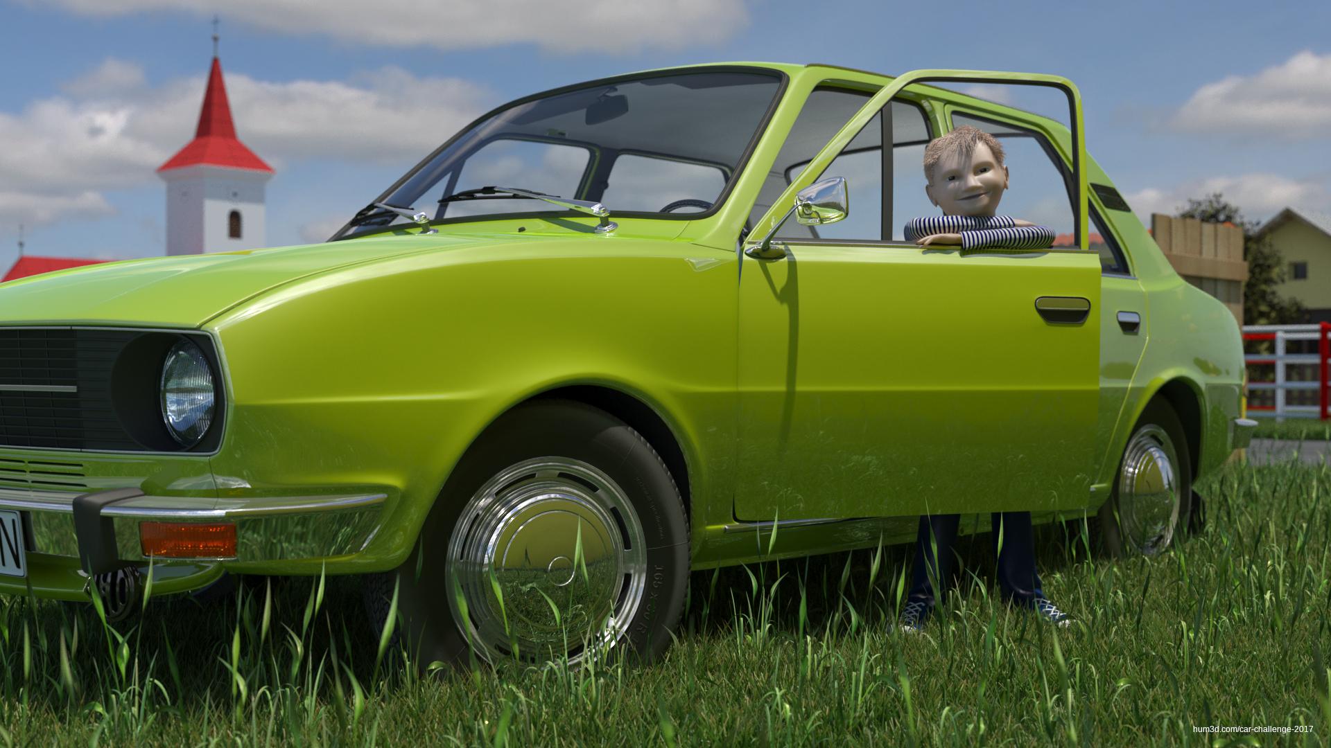 Father's car 3d art