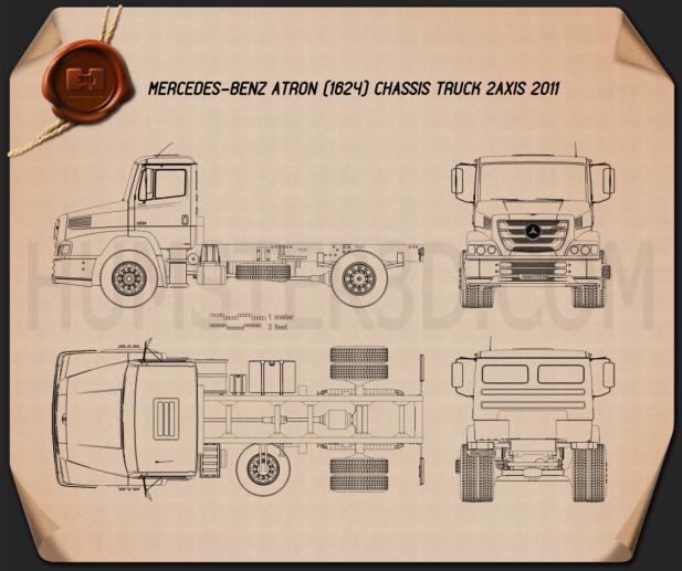 Mercedes-Benz Atron Chassis Truck 2011 Blueprint