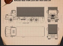 Mercedes-Benz Atron Box Truck 2011 Blueprint