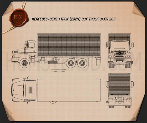 Mercedes-Benz Atron Box Truck 2011 Blueprint