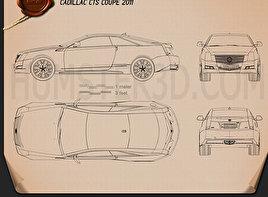Cadillac CTS 2011 Blueprint
