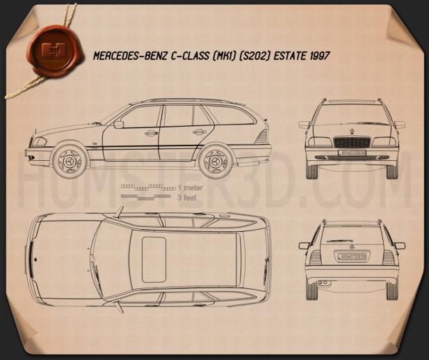 Mercedes-Benz C-Class (S202) estate 1997 Blueprint