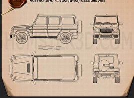 Mercedes-Benz G-Class 65 AMG 2013 Blueprint