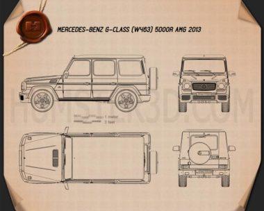 Mercedes-Benz G-Class 65 AMG 2013 Blueprint
