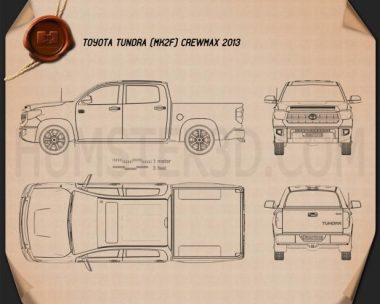 Toyota Tundra Crew Max 2013 Blueprint