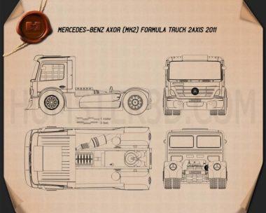 Mercedes-Benz Axor Formula Truck 2011 Blueprint