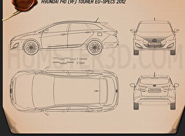 Hyundai i40 Tourer EU 2012 Blueprint