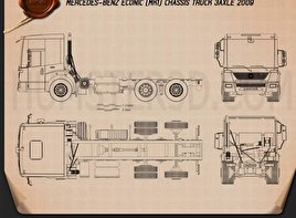 Mercedes-Benz Econic Chassis Truck 2009 Blueprint
