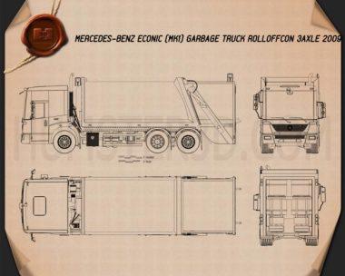 Mercedes-Benz Econic Garbage Truck Blueprint