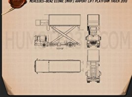 Mercedes-Benz Econic Airport Lift Platform Truck Blueprint