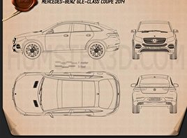 Mercedes-Benz GLE-Class coupe 2014 Blueprint