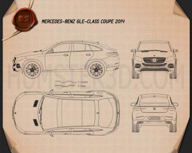 Mercedes-Benz GLE-Class coupe 2014 Blueprint