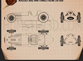 Mercedes-Benz W165 1939 Blueprint