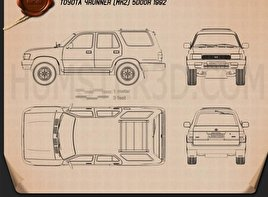 Toyota 4Runner 1992 Blueprint
