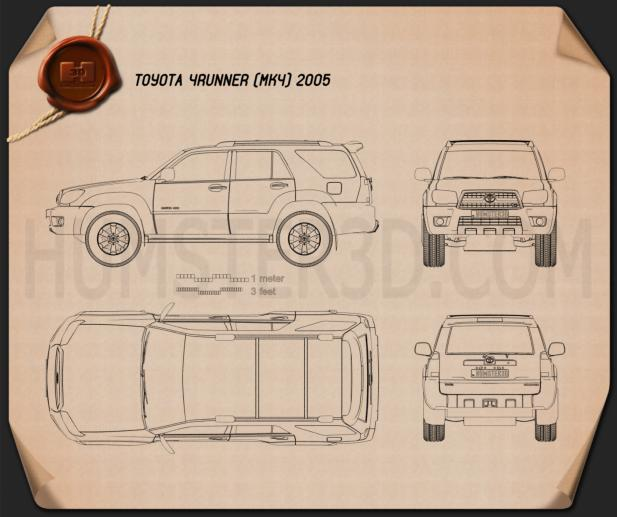 Toyota 4Runner 2005 Blueprint