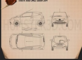 Toyota Aygo 3-door 2014 Blueprint