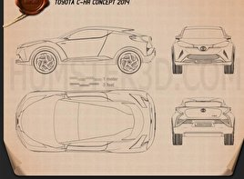 Toyota C-HR Concept 2014 Blueprint