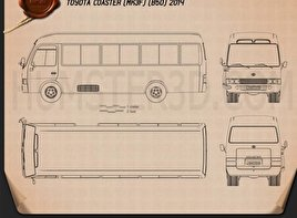 Toyota Coaster 2014 Blueprint