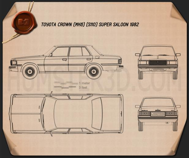 Toyota Crown (S110) Super Saloon 1982 Blueprint