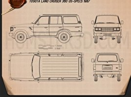 Toyota Land Cruiser (J60) US 1987 Blueprint