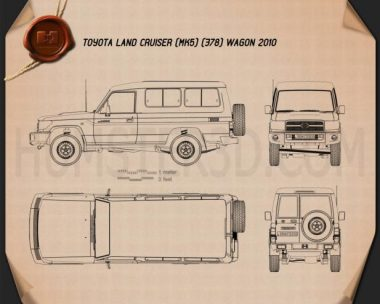 Toyota Land Cruiser (J78) 2010 Blueprint