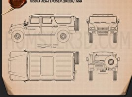 Toyota Mega Cruiser 1996 Blueprint