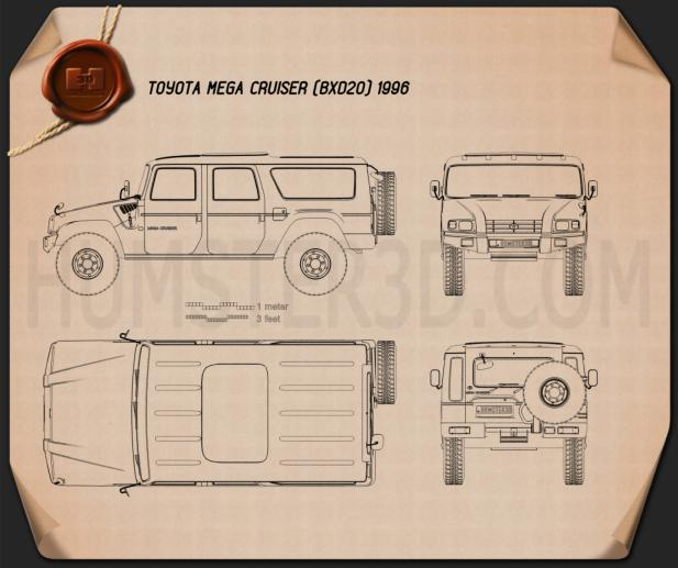 Toyota Mega Cruiser 1996 Blueprint