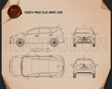 Toyota Prius Plus 2015 Blueprint