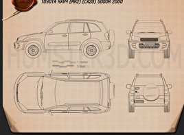 Toyota RAV4 5-door 2001 Blueprint