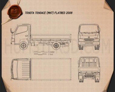 Toyota ToyoAce Flatbed 2006 Blueprint