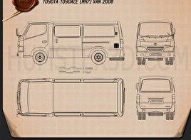 Toyota ToyoAce Van 2006 Blueprint