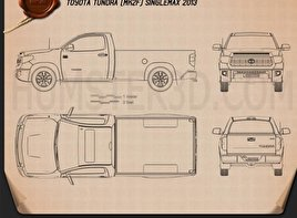 Toyota Tundra Single Max 2013 Blueprint