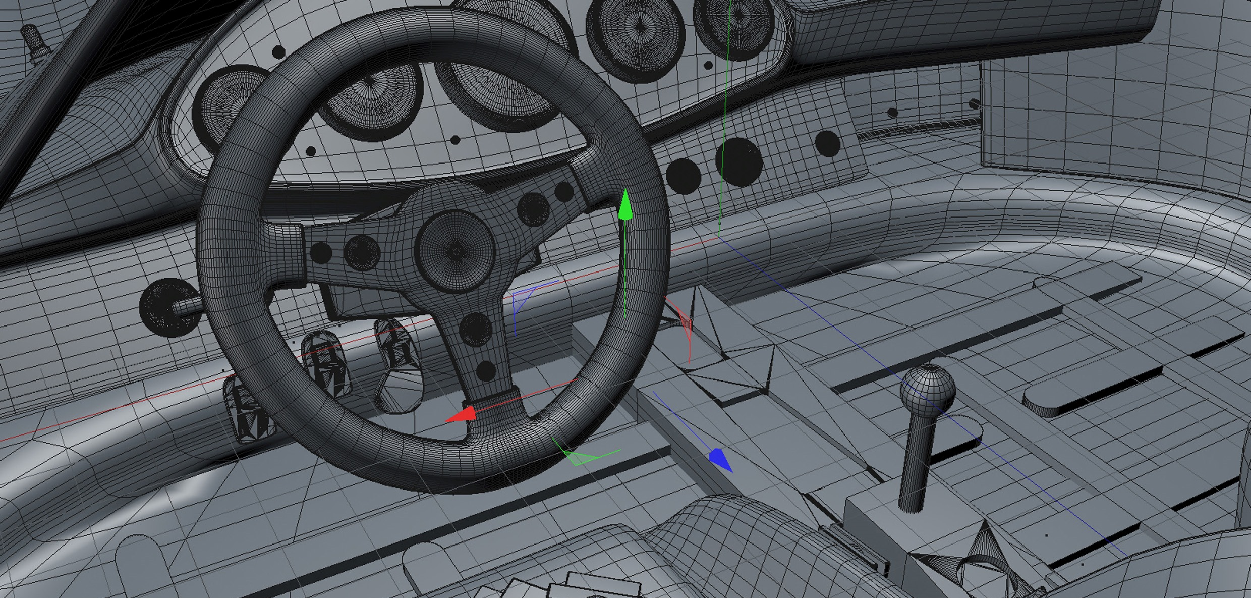 Modelling process of the car