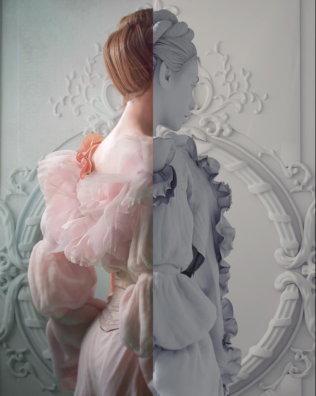 Pink dress by Marianna Yakimova