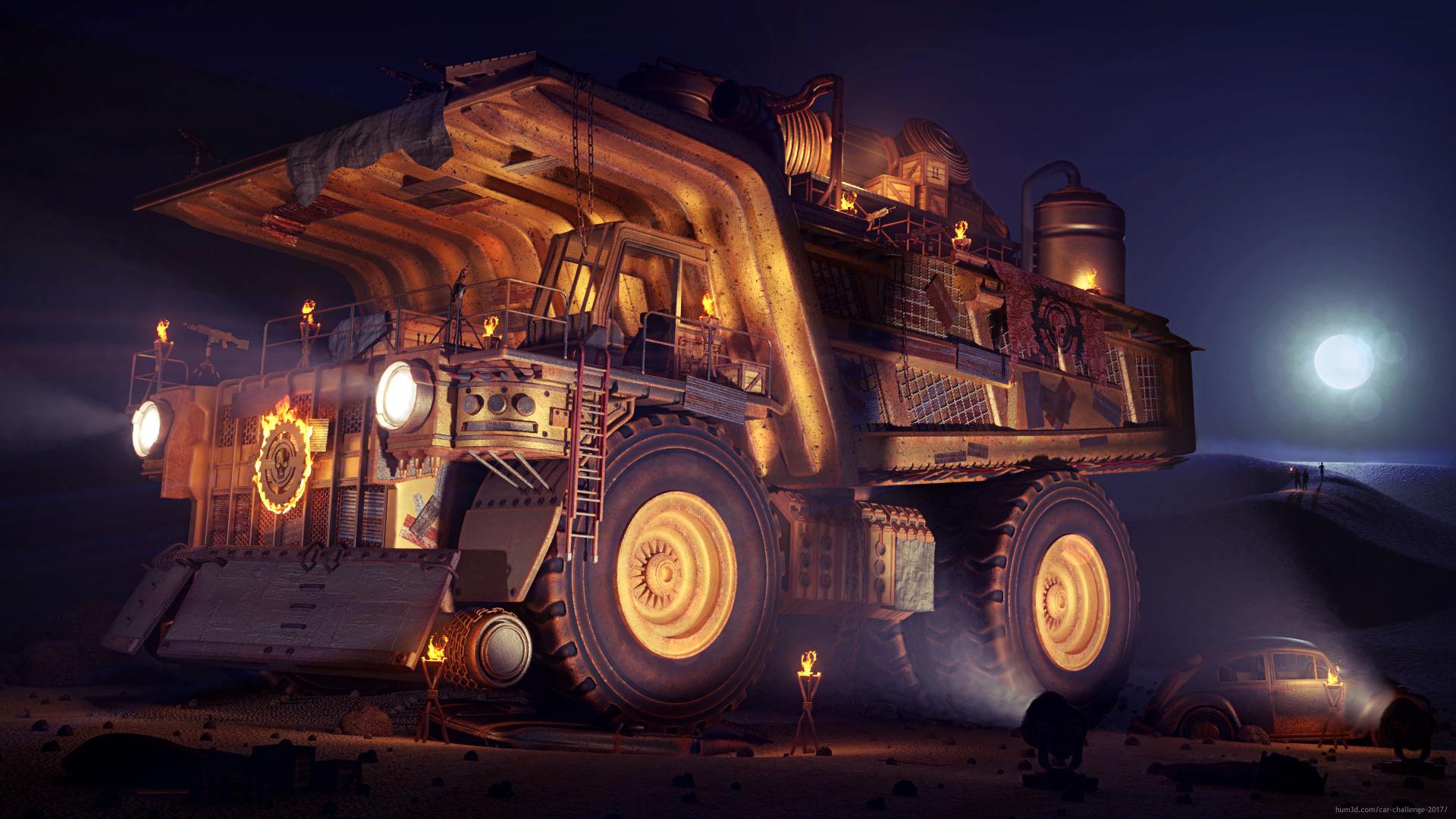 Desert Nomads 3d art