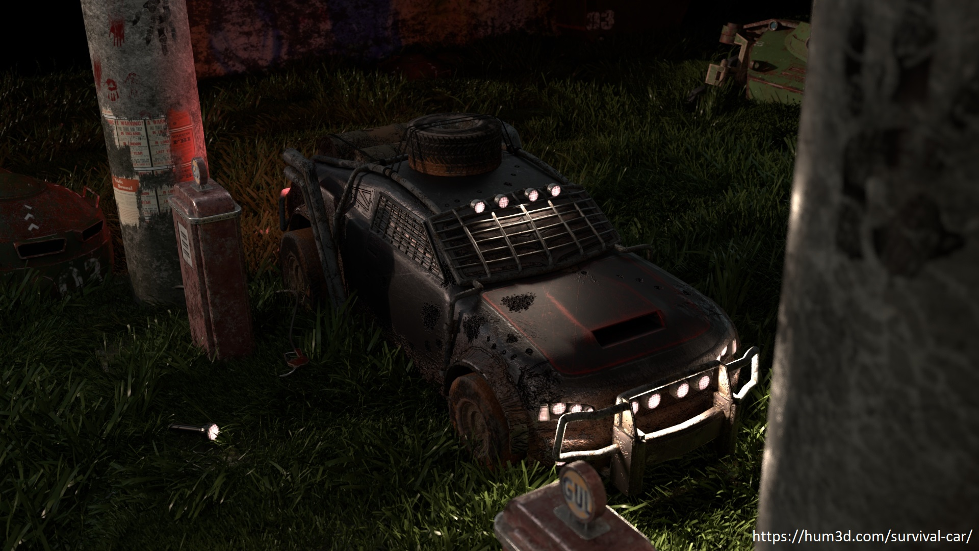 Low on fuel 3d art