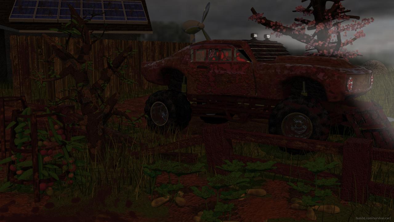 Running in the Dark 3d art