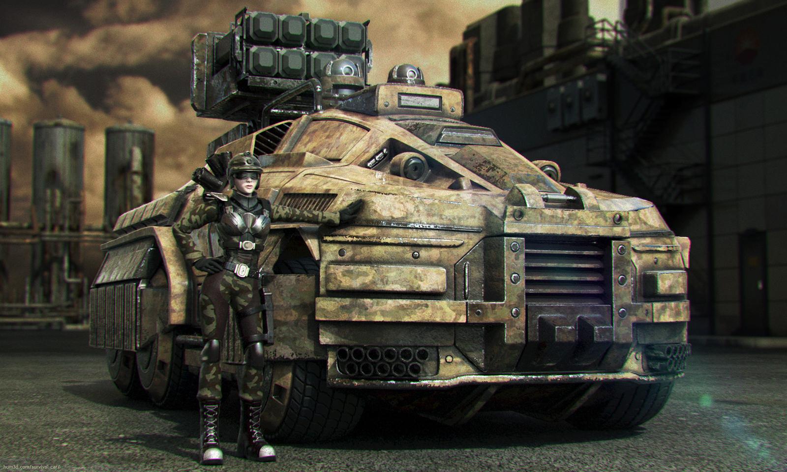 The Rhino. Autonomous Multirole Survival Military Vehicle 3d art