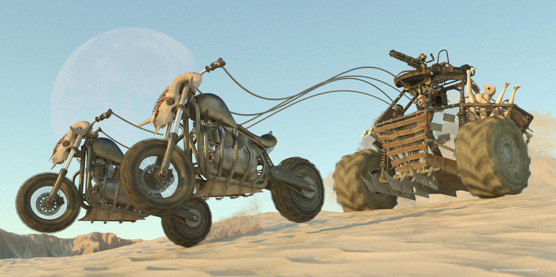 Gladiator Chariot 3d art