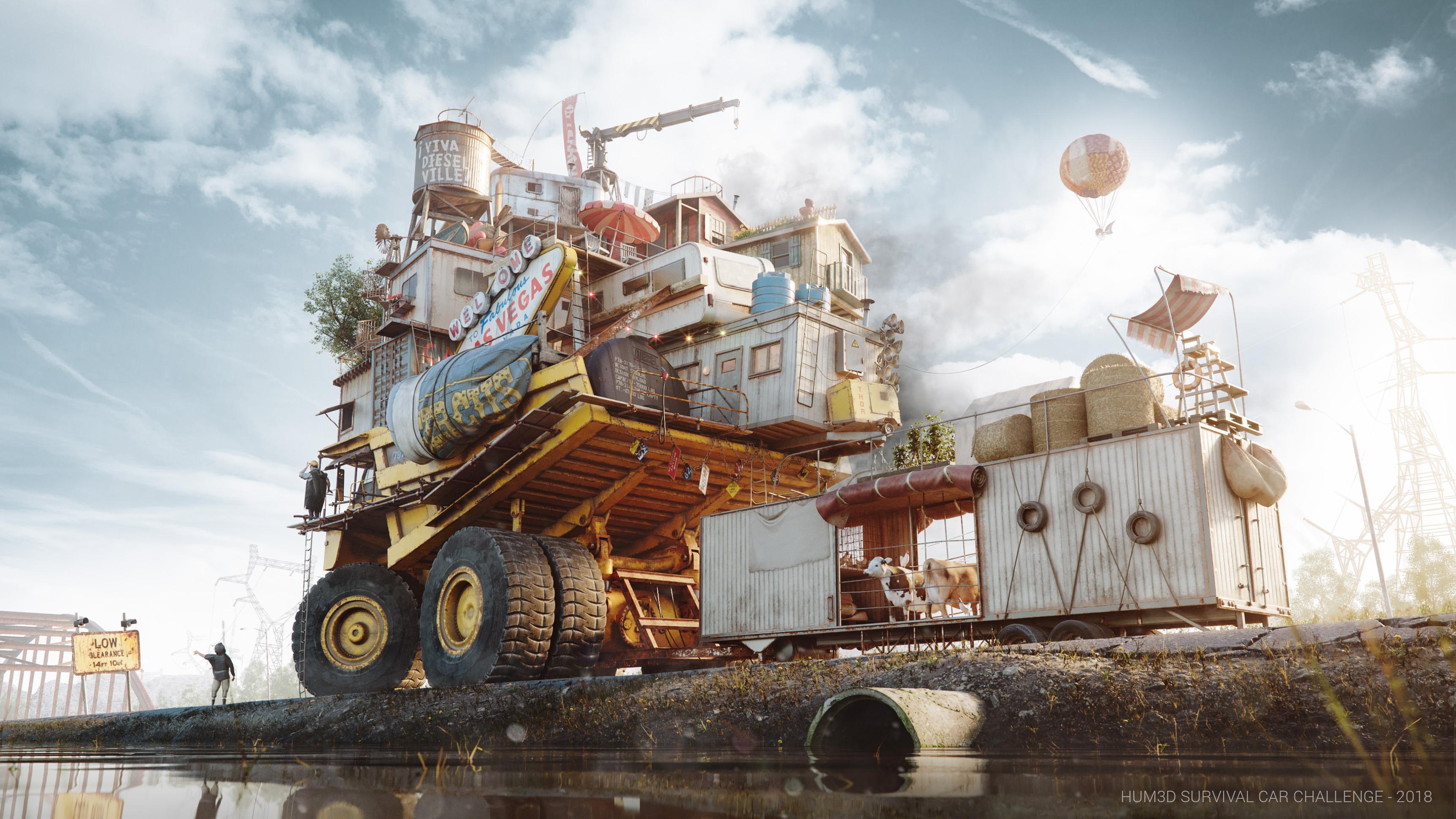 The Free Autonomous Republic of Dieselville 3d art