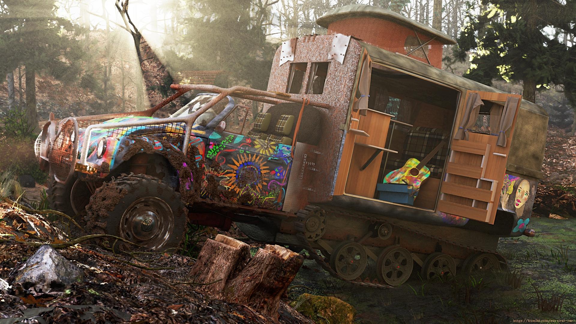 Hippie Trail 3d art