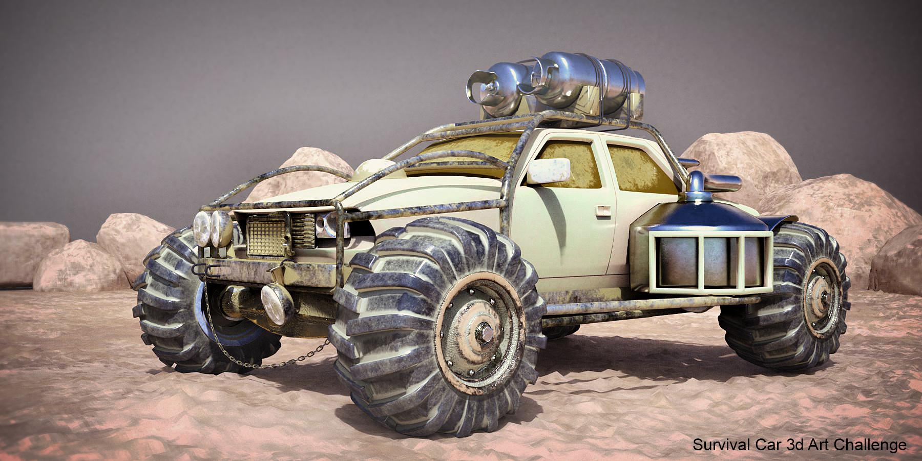 Desert lizard 3d art