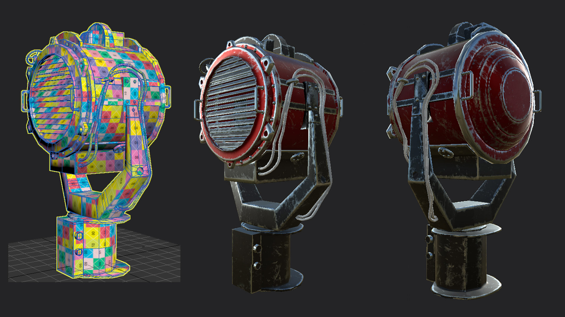 Modelling and texturing props