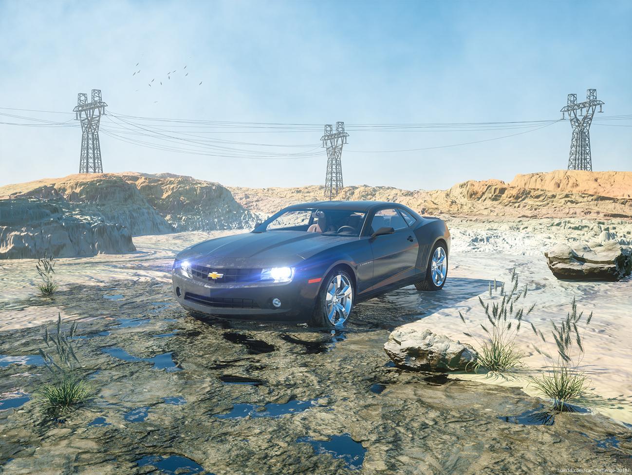 Car render 3d art