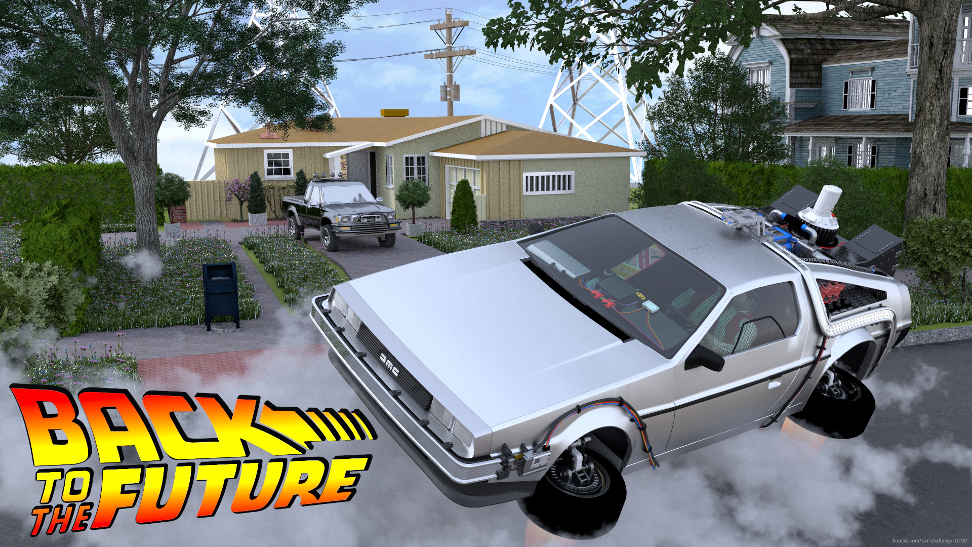 Back to the future 2018 3d art