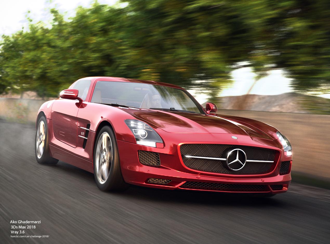 Mercedes-Benz SLS 3d art