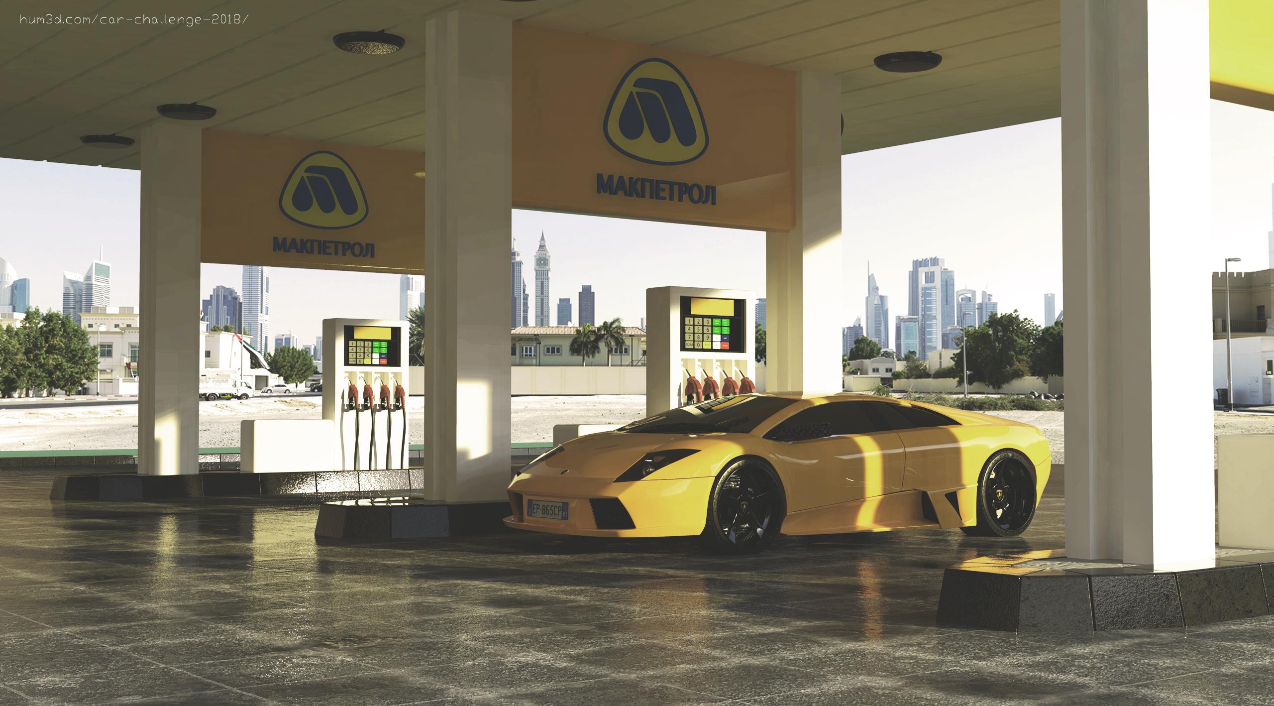 Makpetrol Gas Station 3d art