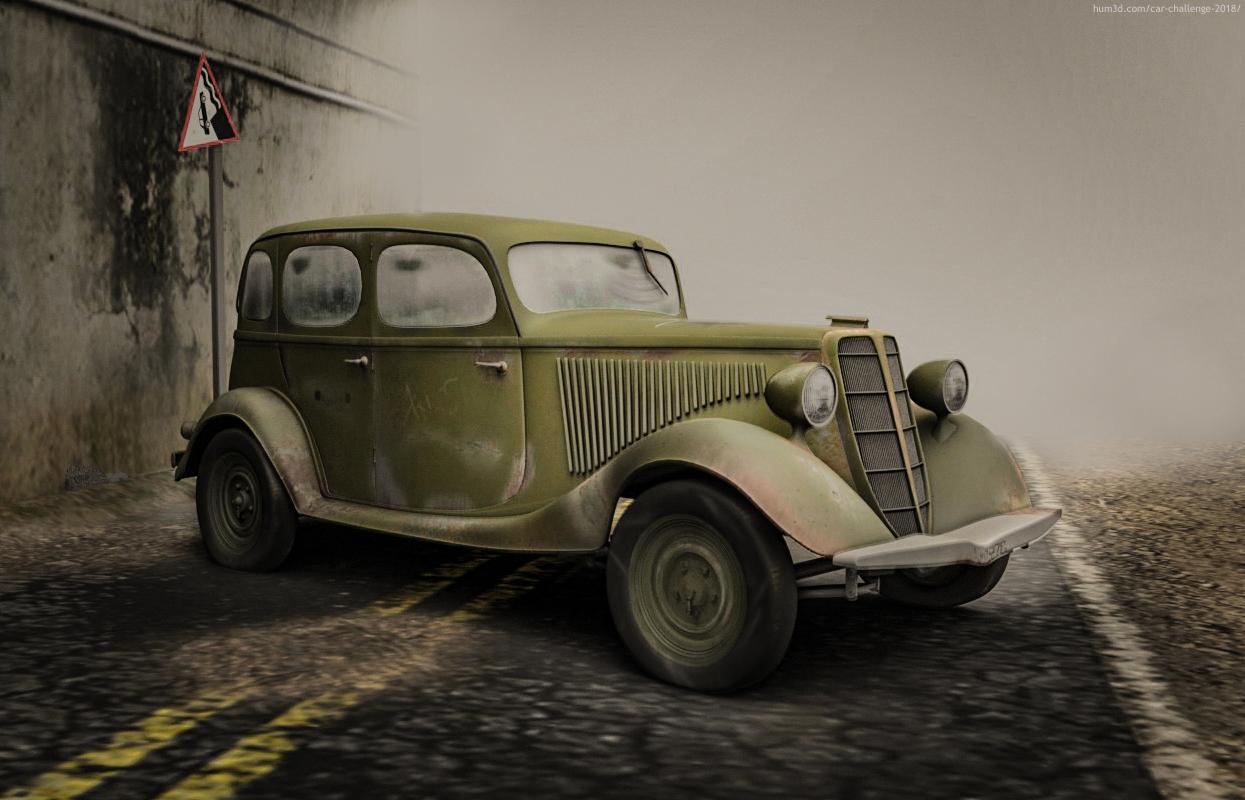 3D army car 3d art