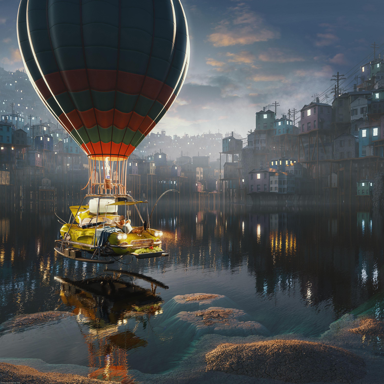 Floating 3d art