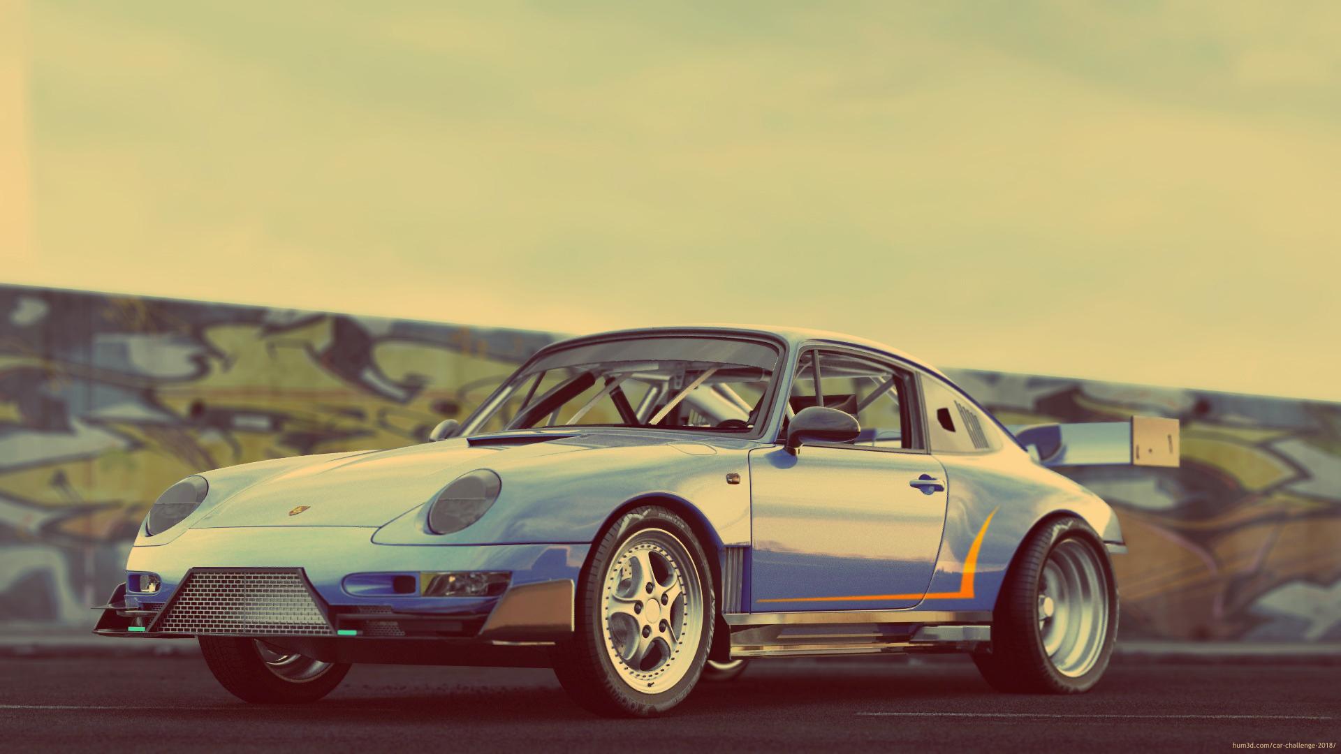 Porsche 911 3d art
